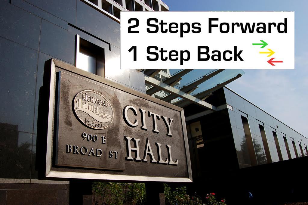 Richmond City Hall Announces Two Steps Forward One Step Back