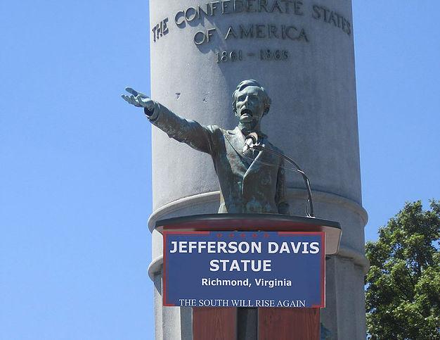 jefferson davis monument confirms the south to rise again