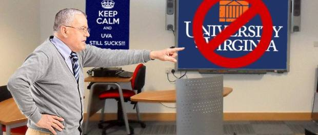 man teaches class about trash talking UVA football