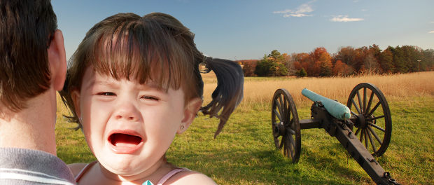 Kid crying at national battlefield